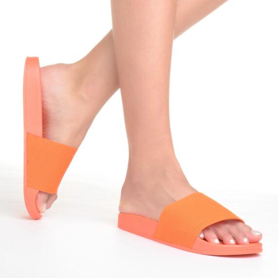 Női Narancssárga Szintetikus Papucs