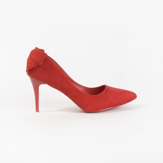 Piros Masnis Művelúr Magassarkú Cipő