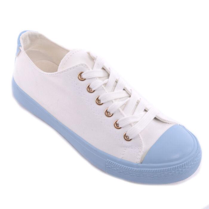 Női Szövet Fehér-Kék Tornacipő - SPORTCIPŐK - Női cipő webáruház-női  csizmák 8326a26033