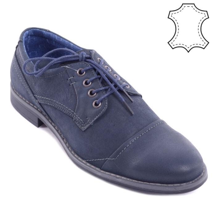 Sötétkék Férfi Valódi Bőr Alkalmi Cipő - FÉLCIPŐK - Női cipő webáruház-női  csizmák 608518d773