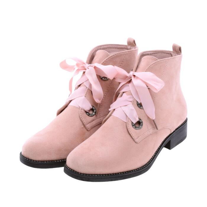 Női Rózsaszín Művelúr Bokacsizma - BOKACSIZMÁK - Női cipő webáruház-női  csizmák 22d19e3bf9