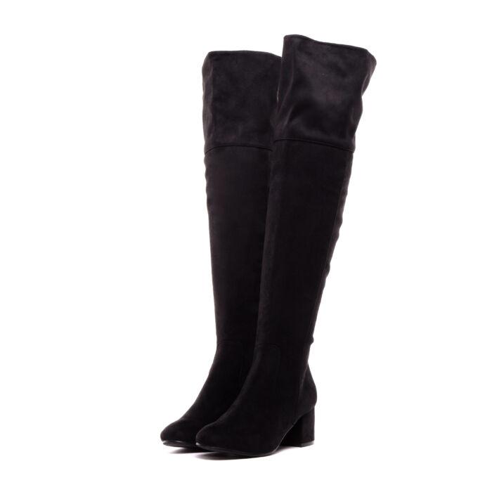 Fekete Női művelúr Magasszárú Csizma - MAGASSZÁRÚ CSIZMÁK - Női cipő ... cf879fa6ae