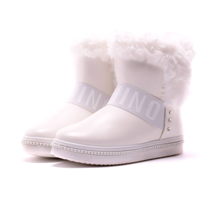 Női Fehér Műbőr Hótaposó - HÓTAPOSÓK - Női cipő webáruház-női ... 21cad588f5