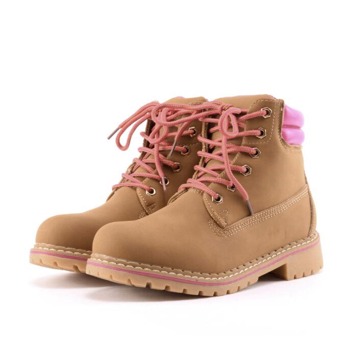 Mustár színű női műbőr bakancs - BAKANCSOK - Női cipő webáruház-női  csizmák 1c293777b7
