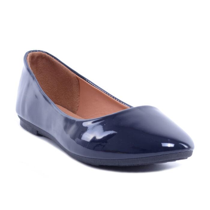 Kék Női Lakk Balerina Cipő - BALERINA CIPŐK - Női cipő webáruház-női  csizmák 925e2fab59