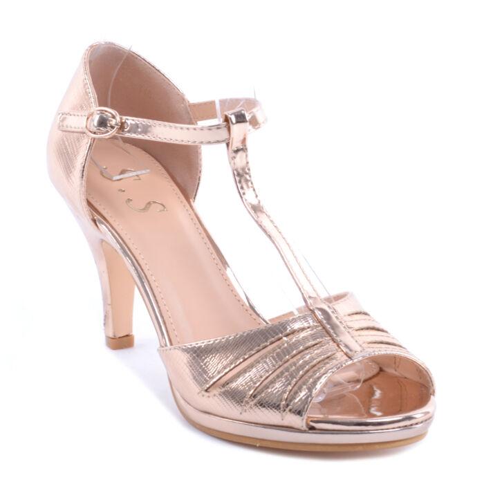 Rózsaarany Női Lakk Magassarkú - ALKALMI CIPŐK - Női cipő webáruház-női  csizmák e242e27370