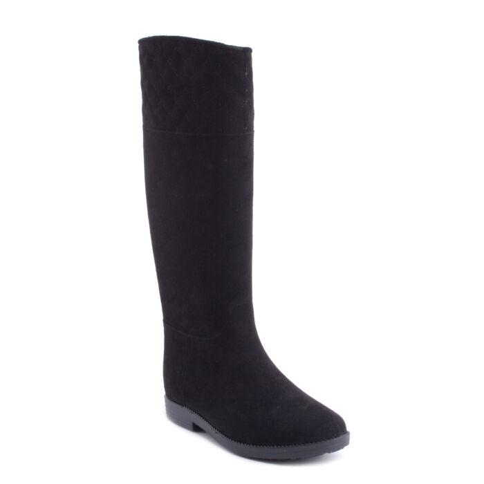 Fekete Női Művelúr Gumicsizma - MAGASSZÁRÚ CSIZMÁK - Női cipő ... 73fb2fec6b