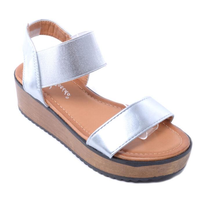 Ezüst Női Szandál - LAPOS TALPÚ SZANDÁLOK - Női cipő webáruház-női ... 68a5318483