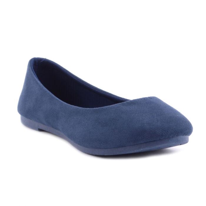 Sötétkék Női Művelúr Balerina Cipő - BALERINA CIPŐK - Női cipő webáruház-női  csizmák deffb18987