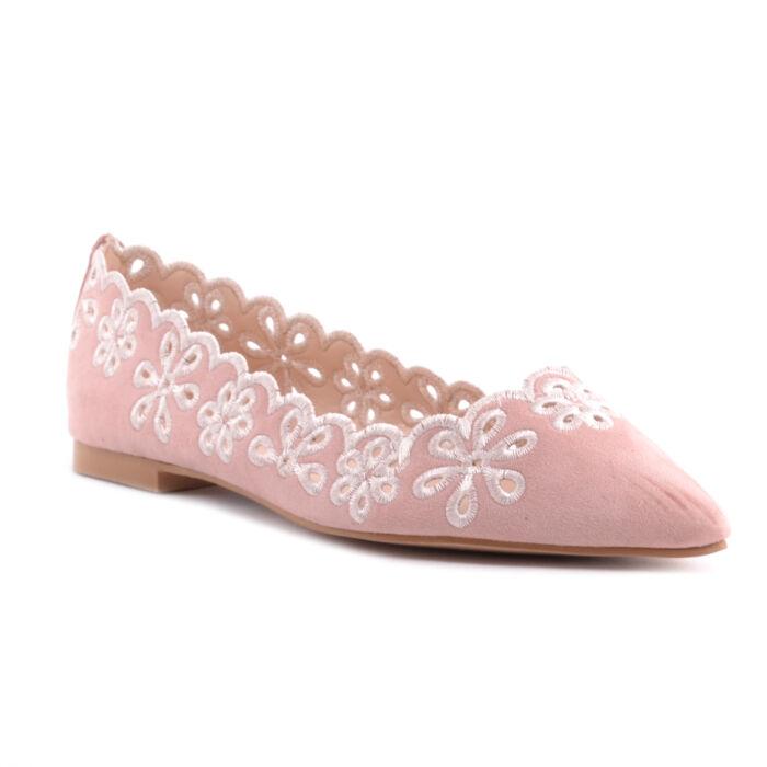Rózsaszín Női Művelúr Balerina Cipő - BALERINA CIPŐK - Női cipő  webáruház-női csizmák c3f653d294