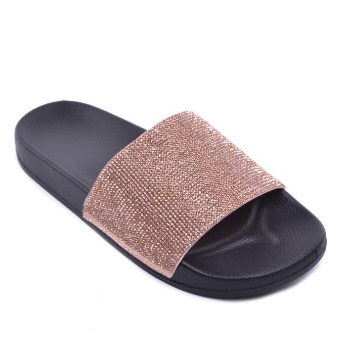 Rózsaszín Köves Női Papucs - LAPOS TALPÚ SZANDÁLOK - Női cipő webáruház-női  csizmák 2a56dcc558