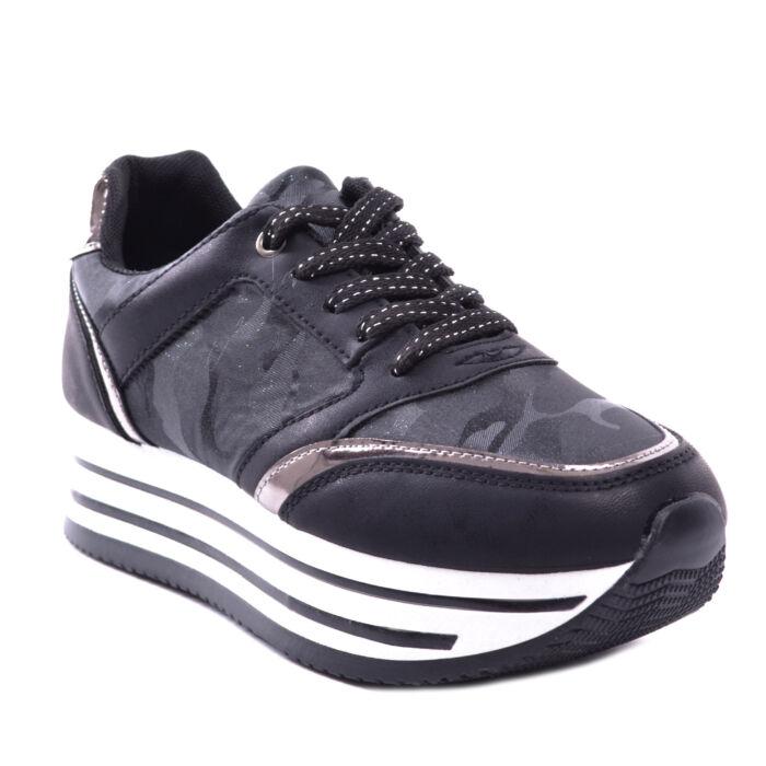 Női Platformos Műbőr Sportcipő Fekete - MAGAS TALPÚ - Női cipő webáruház-női  csizmák 8c5a1c2628