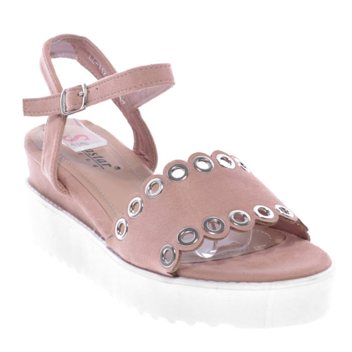 Ll117 Rózsaszín Női Művelúr Szandál - LAPOS TALPÚ SZANDÁLOK - Női cipő  webáruház-női csizmák d1a90b3519