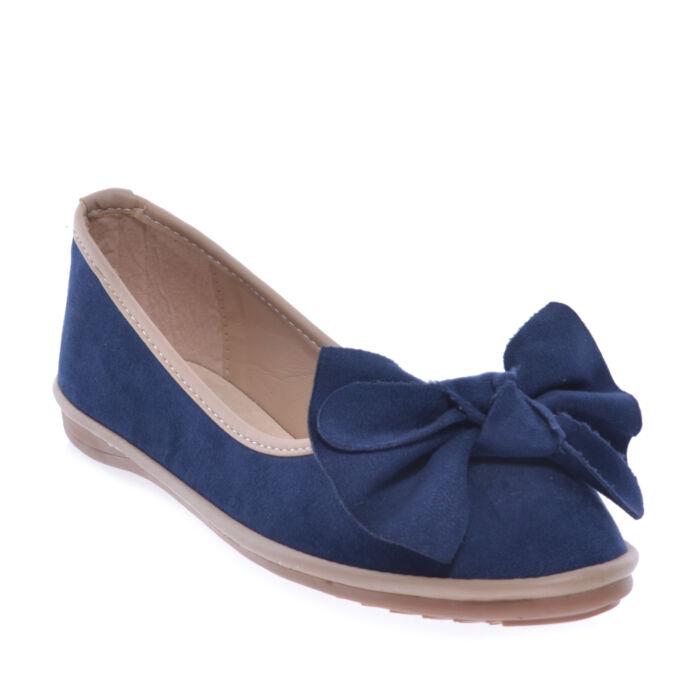 Sk26 Kék Női Művelúr Balerinacipő - BALERINA CIPŐK - Női cipő webáruház-női  csizmák 0577380b89