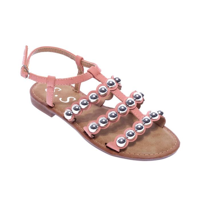 Rózsaszín Női Műbőr Szandál - LAPOS TALPÚ SZANDÁLOK - Női cipő webáruház-női  csizmák a6cd4ef408