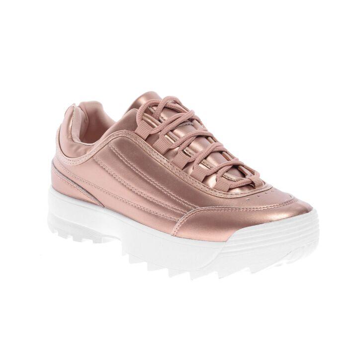 Rózsaarany Színű Női Műbőr Félcipő - UTCAI CIPŐK - Női cipő webáruház-női  csizmák 9a456ab7d5