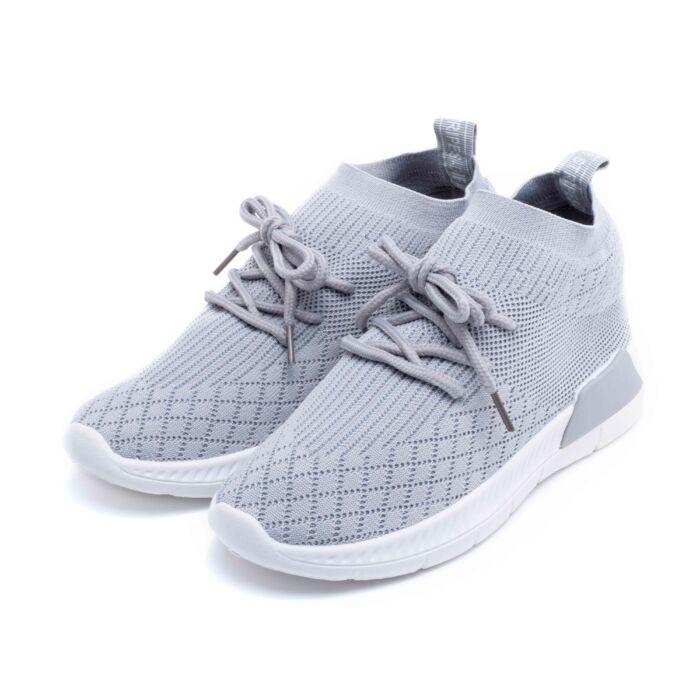 Női szürke gumis poliészter sportcipő - SPORTCIPŐK - Női cipő webáruház-női  csizmák 589667d122
