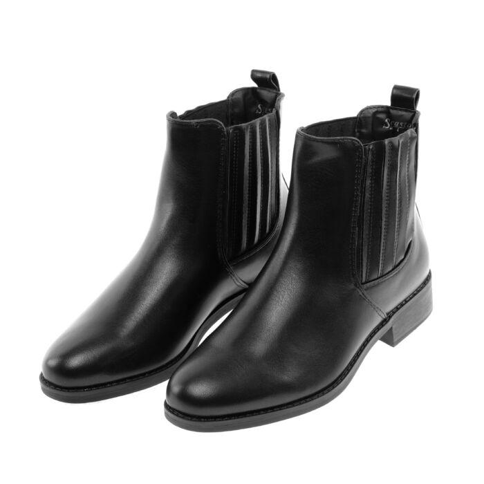 Seastar Női Fekete Műbőr Bokacsizma - BOKACSIZMÁK - Női cipő webáruház-női  csizmák bb0b6e46d2