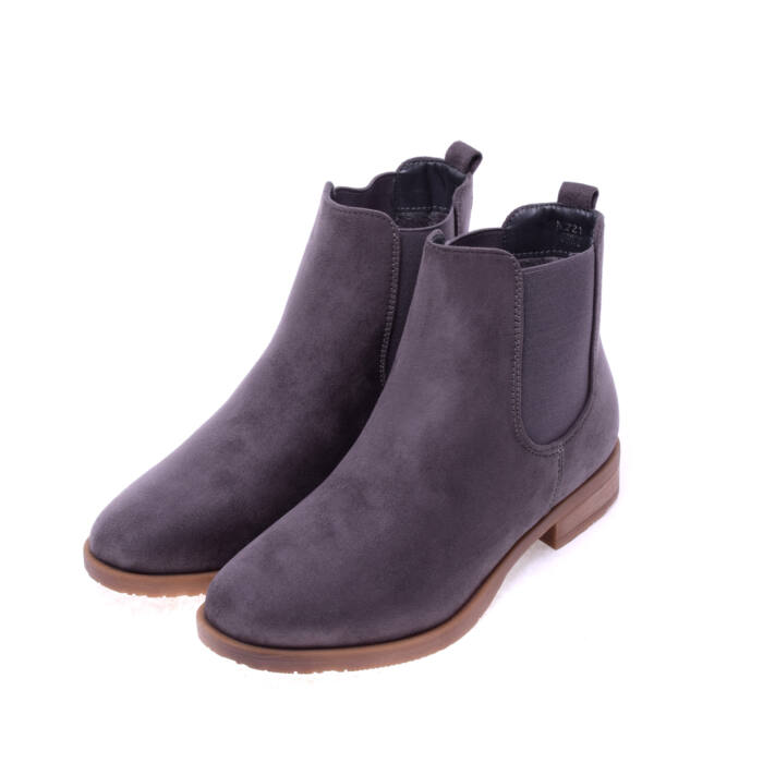 Szürke női művelúr bokacsizma - BOKACSIZMÁK - Női cipő webáruház-női  csizmák 3fb84b7f9f