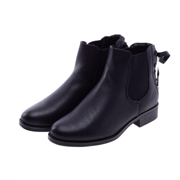 Női Fekete Művelúr Bokacsizma - BOKACSIZMÁK - Női cipő webáruház-női ... f4890f184f