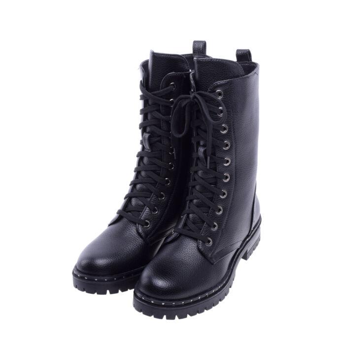 Női Fekete Műbőr Bakancs - BAKANCSOK - Női cipő webáruház-női csizmák f2589cbd6a