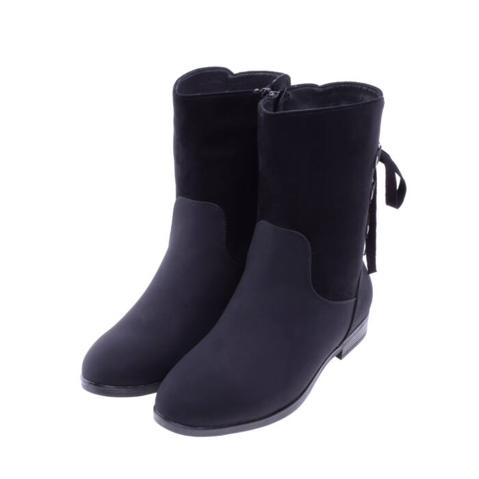 Női Fekete Műbőr Csizma - CSIZMÁK - Női cipő webáruház-női csizmák ... ce84423f85
