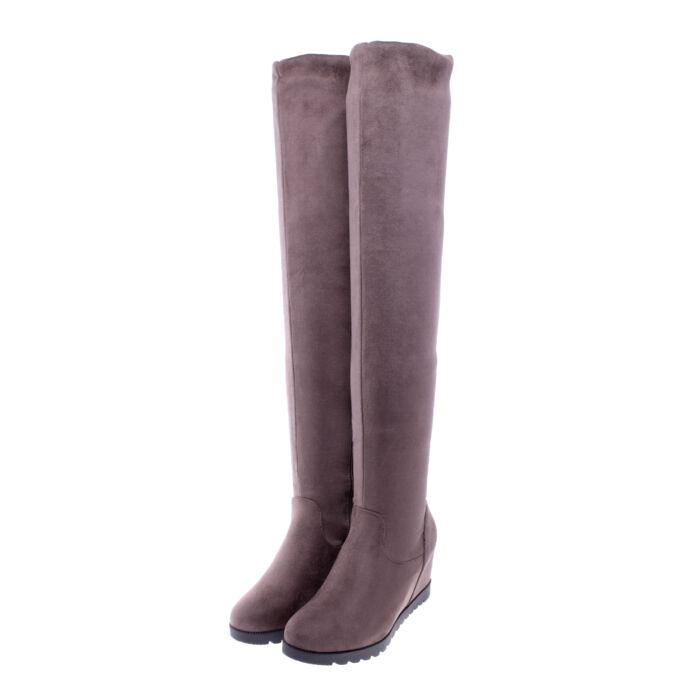 Női Keki Művelúr Hosszúszárú Csizma - MAGASSZÁRÚ CSIZMÁK - Női cipő  webáruház-női csizmák 0527c2d89b