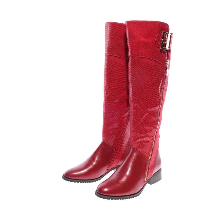 Női bordó műbőr magasszárú csizma - MAGASSZÁRÚ CSIZMÁK - Női cipő webáruház- női csizmák e18e1f8459