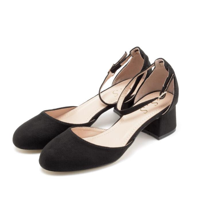 Fekete pántos női művelúr magassarkú - MAGASSARKÚ SZANDÁL - Női cipő ... 363326e612