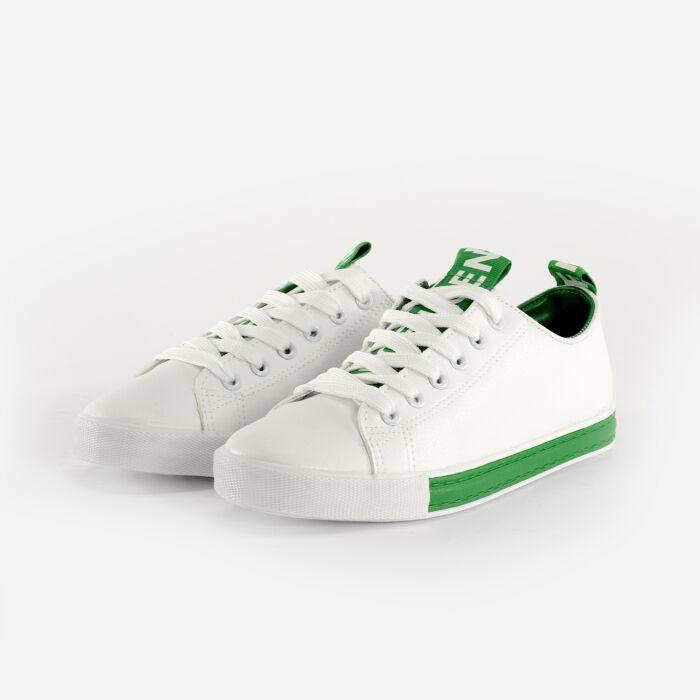 Fehér-Zöld Műbőr Félcipő - SPORTCIPŐK - Női cipő webáruház-női csizmák 8f69bababb