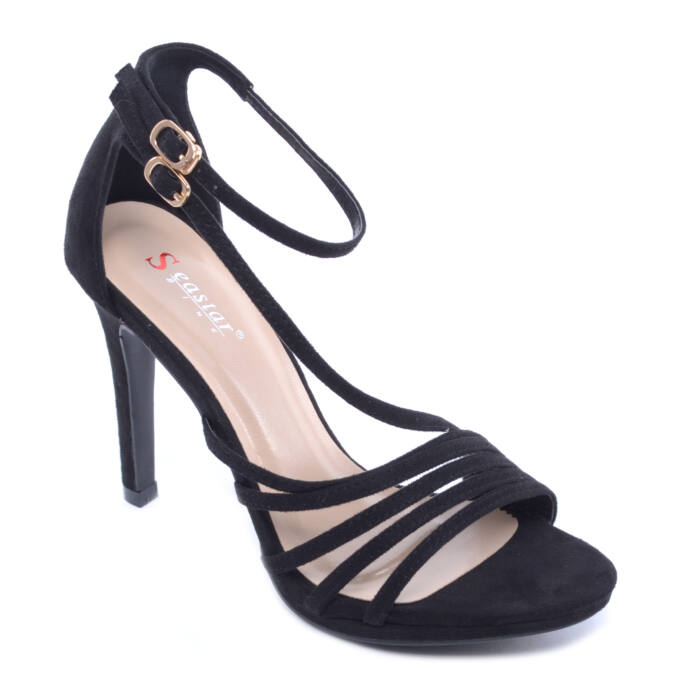 Seastar Női Művelúr Magassarkú Fekete - ALKALMI CIPŐK - Női cipő webáruház- női csizmák 6fadfd388c