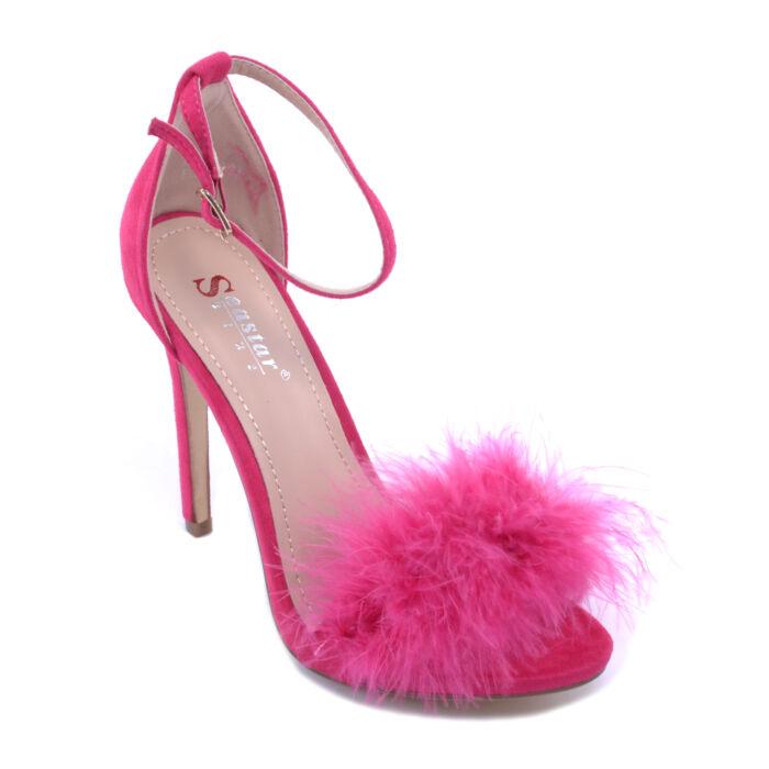 Seastar Női Szőrmés Művelúr Magassarkú Rozsaszin - ALKALMI CIPŐK - Női cipő  webáruház-női csizmák ccad33a646
