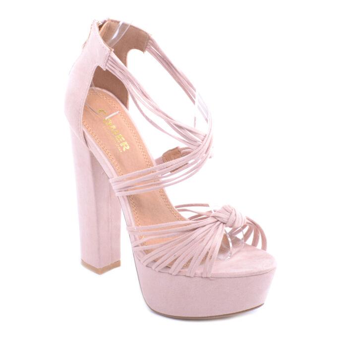 Női Magassarkú Cipő Babarózaszín - PLATFORM CIPŐK - Női cipő webáruház-női  csizmák 1dd1ecaea5