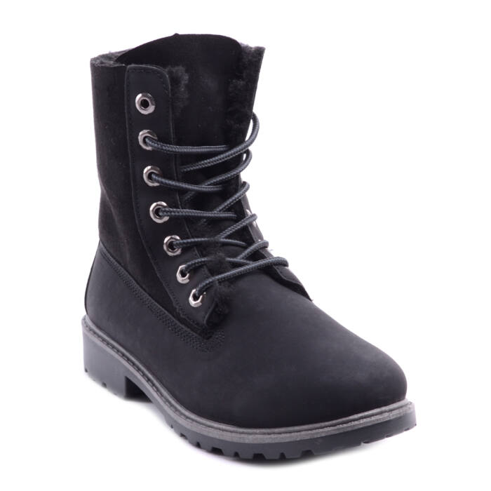 Női Szintetikus Bélelt Bakancs Fekete - BAKANCSOK - Női cipő webáruház-női  csizmák 1b76f0b563