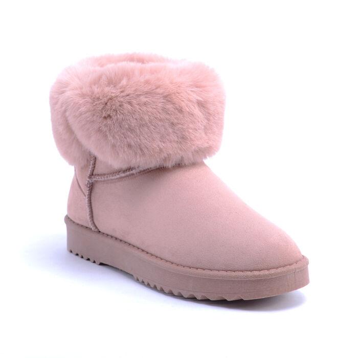 Női Rózsaszín Művelúr Csizma - HÓTAPOSÓK - Női cipő webáruház-női csizmák 430c373cae