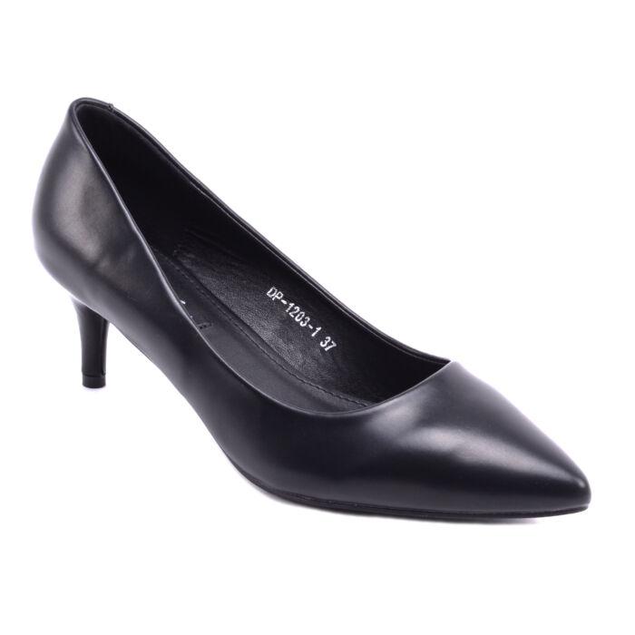 Női Műbőr Törpesarkú Fekete - ALKALMI CIPŐK - Női cipő webáruház-női  csizmák 612c06852e