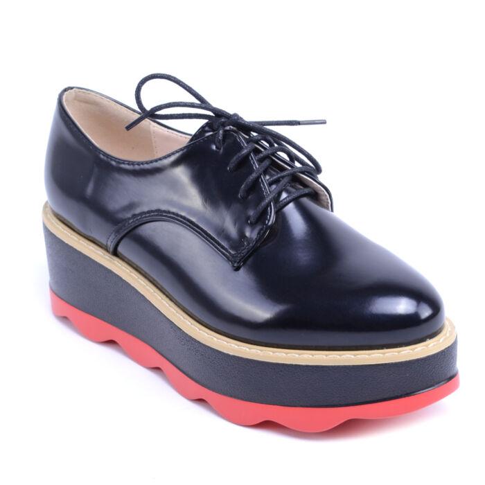 Női Műbőr Platformos Cipő Fekete - MAGAS TALPÚ - Női cipő webáruház-női  csizmák 5eb05b0ed1