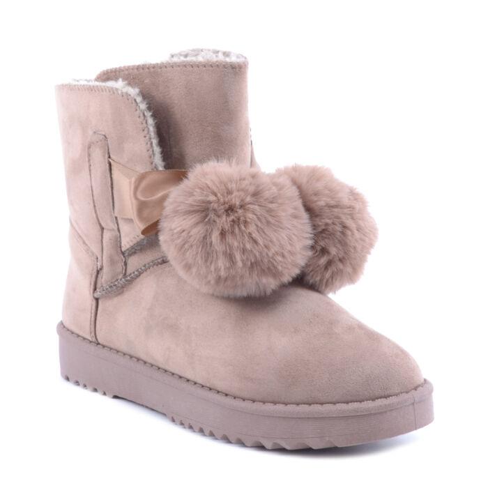 Női Keki Művelúr Bokacsizma - HÓTAPOSÓK - Női cipő webáruház-női csizmák 804e8e1972