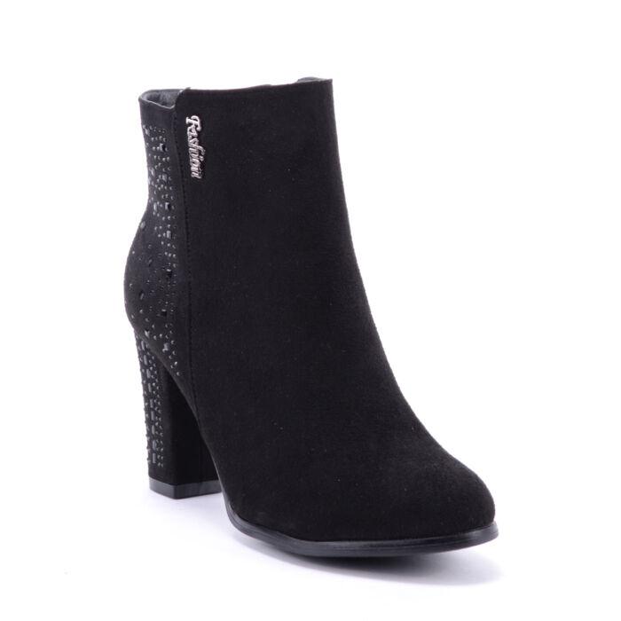 Női Művelúr Fekete Bokacsizma - BOKACSIZMÁK - Női cipő webáruház-női  csizmák e800797621