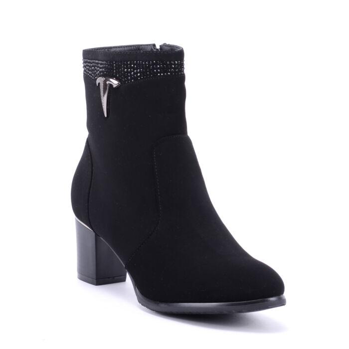Női Művelúr Bokacsizma Fekete - BOKACSIZMÁK - Női cipő webáruház-női  csizmák c0aa802c8e