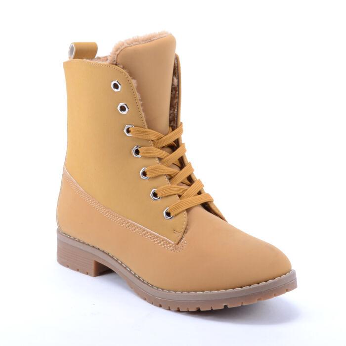 Női Vastagon Bélelt Bakancs Barna - BAKANCSOK - Női cipő webáruház-női  csizmák 978a018f6c