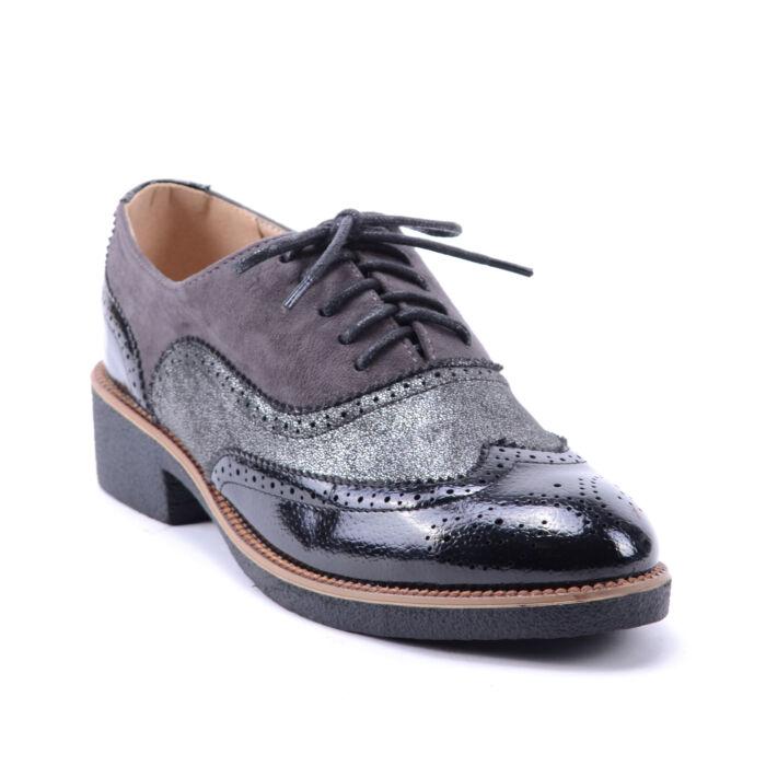 Női Műbőr Fűzős Félcipő Fekete - UTCAI CIPŐK - Női cipő webáruház-női  csizmák 6f88e9bfa4