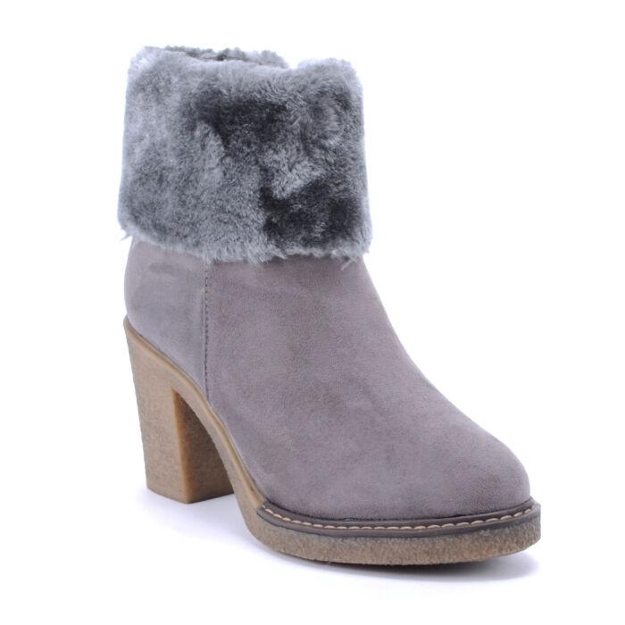Seastar Női Művelúr Bundás Bokacsizma Szürke - BOKACSIZMÁK - Női cipő  webáruház-női csizmák 8c41048d43