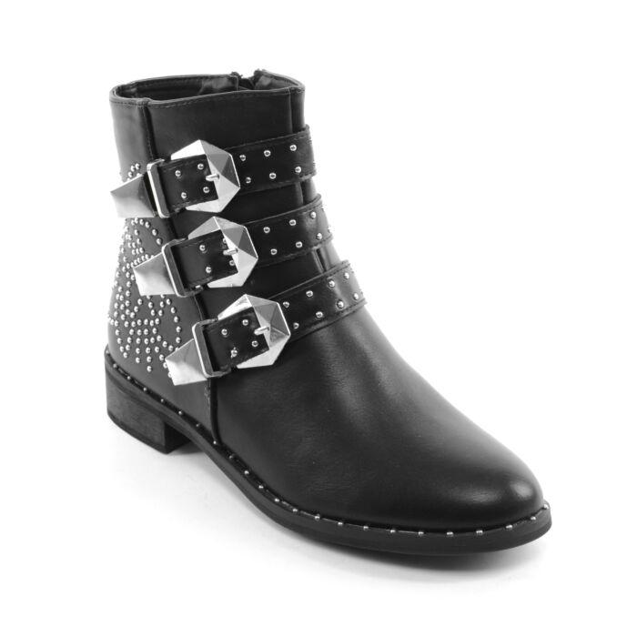 Seastar Női Műbőr Bokacsizmafekete - BOKACSIZMÁK - Női cipő webáruház-női  csizmák 68bf50aa8b