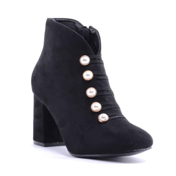 Seastar Női Művelúr Bokacsizma Fekete - BOKACSIZMÁK - Női cipő webáruház-női  csizmák 738bc261c3