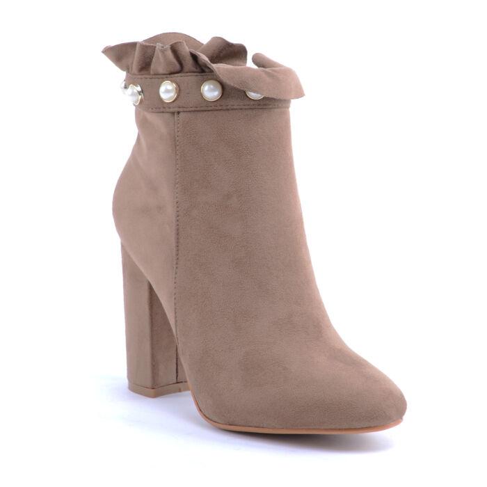 Seastar Női Művelúr Bokacsizma Világosbarna - BOKACSIZMÁK - Női cipő  webáruház-női csizmák cdb08cbacd