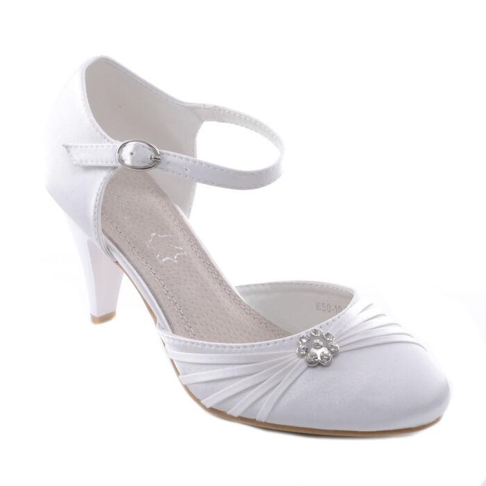 Női Fehér Poliészter Magassarkú - ALKALMI CIPŐK - Női cipő webáruház ... 3b64c89893