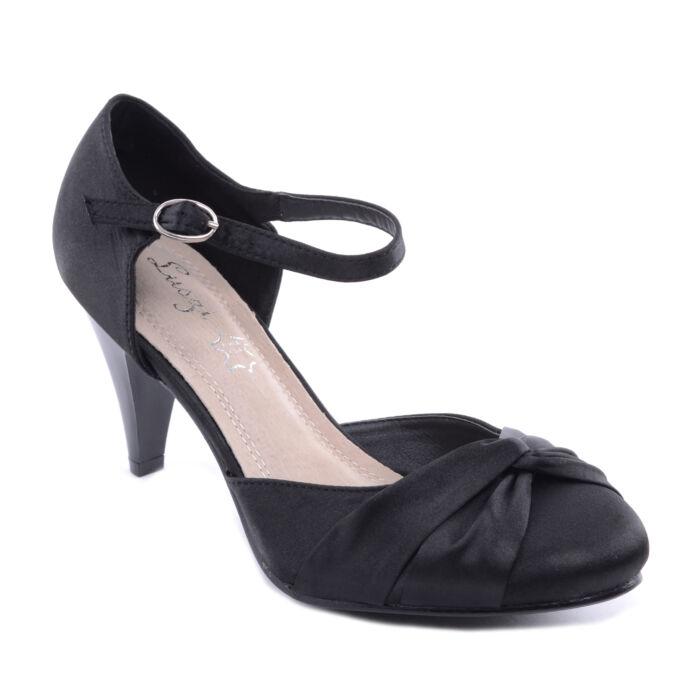 Női Poliészter Magassarkú Fekete - ALKALMI CIPŐK - Női cipő webáruház-női  csizmák 65016847c5