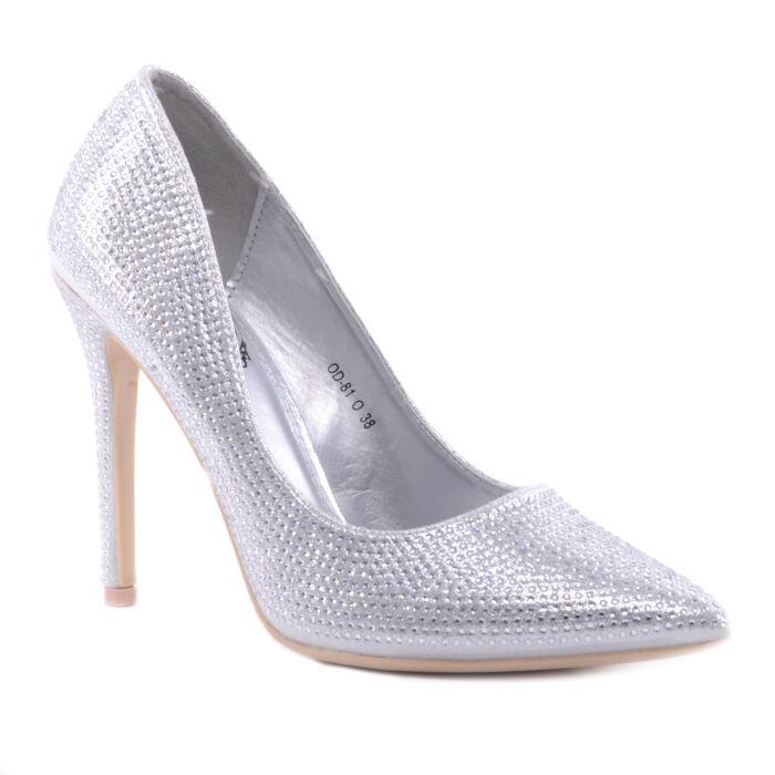 Női Kövekkel Kiarakott Tűsarkú Ezüst - ALKALMI CIPŐK - Női cipő webáruház- női csizmák cc48be0536