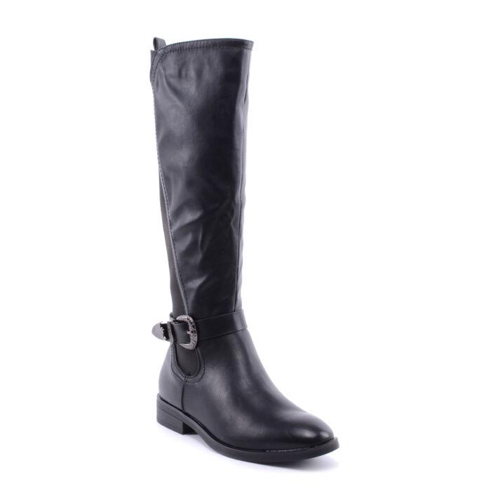 c553e8495c Basida Női Műbőr Csizma Fekete - MAGASSZÁRÚ CSIZMÁK - Női cipő ...